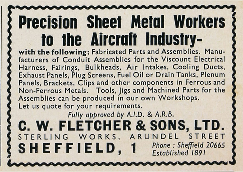 Precision sheet metal workers to the aircraft industry